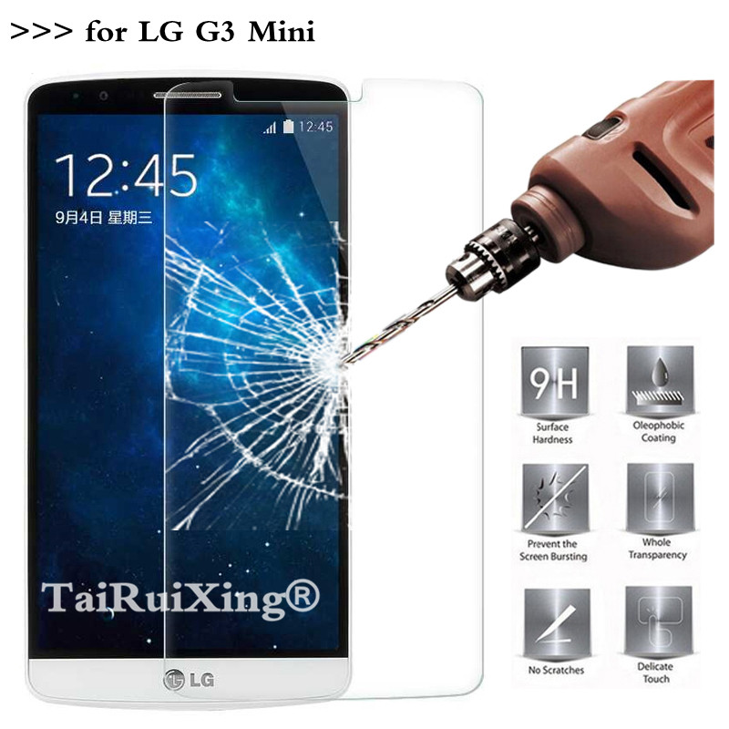 Tempered Glass For LG G3 Mini Screen Protector 2.5D 0.26mm 9H Protection Film For LG G3S G3 S G3 Beat D722 D724 Tempered Glass