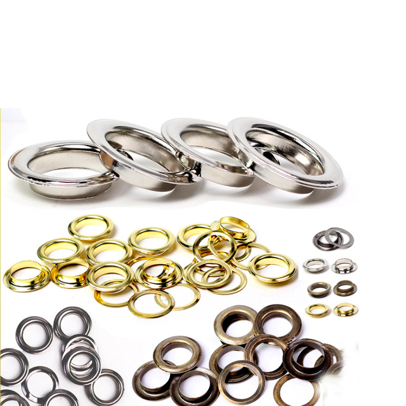 1.5 inch 38 mm inner size Nickel Oval Eyelet Grommets 40 sets G59