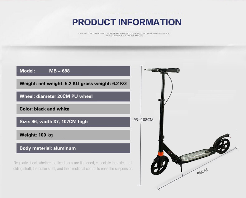 Image 3 - adult children kick scooter foldable PU 2wheels bodybuilding all aluminum shock absorption urban campus transportation-in Kick Scooters,Foot Scooters from Sports & Entertainment