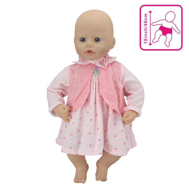 824a15fb0eb3 New Lovely Pink Dress for Baby Doll 18 Inch Dolls Clothes-in Dolls ...