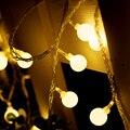 Al aire libre Jardín Decoración De Navidad Multicolor Bola LED Cadena de Luces de Navidad/de Hadas de La Boda/Del Partido Decoración Luces Al Aire Libre