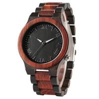 YISUYA Quartz Wooden Watches Roman Numberals Dail Wristwatch Men Sport Casual Creative Design Full Wood Bamboo
