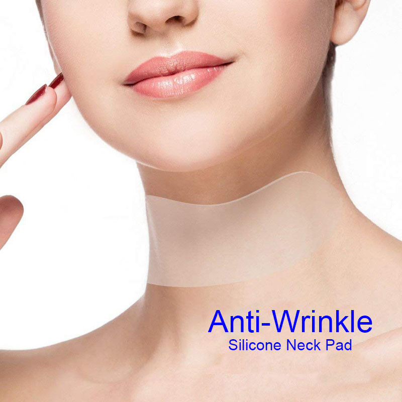 Reusable Anti Wrinkle Silicon Transparent Neck Pad Mask Anti Microgroove Removal Neck Sticker Skin Care Silica Gel patch arruga