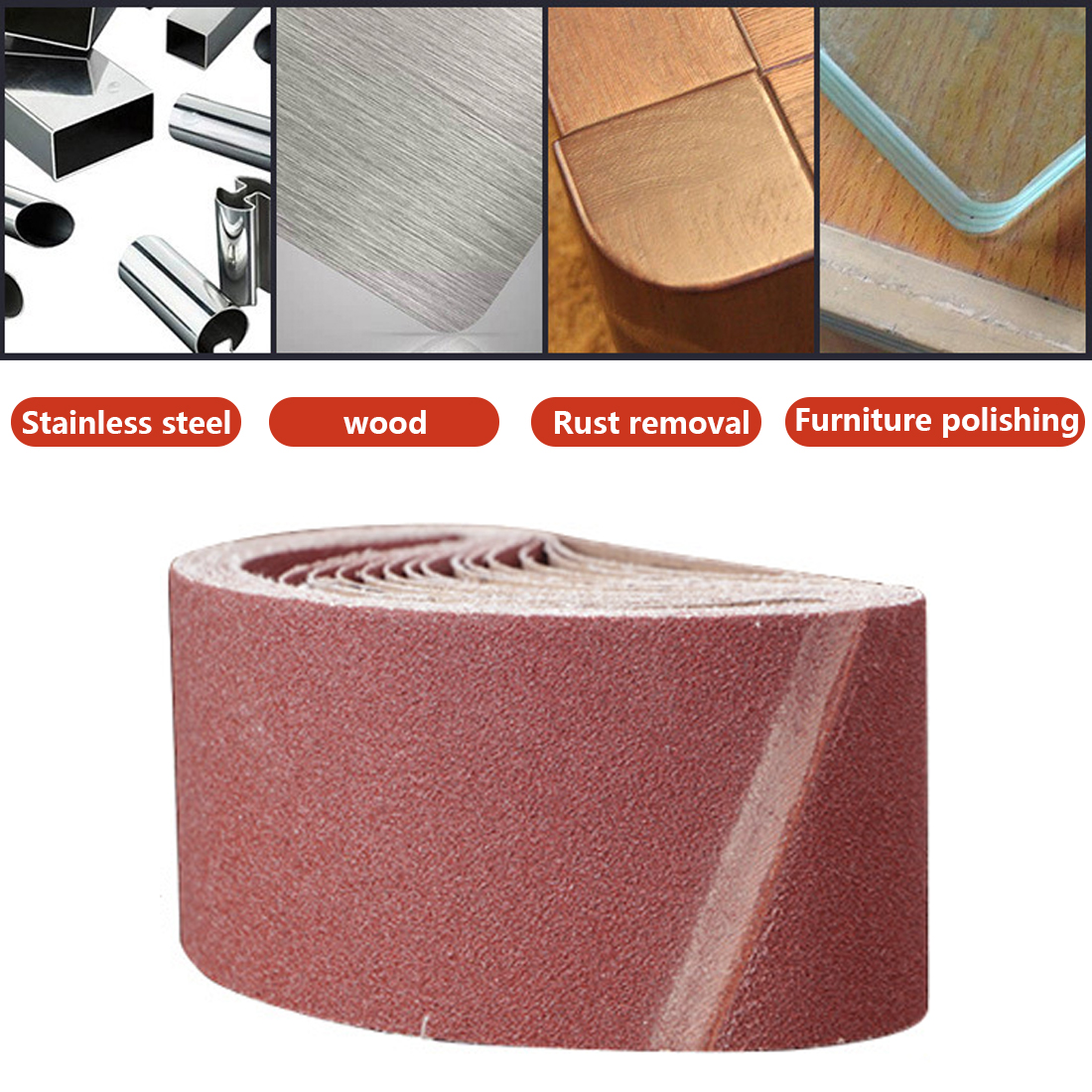 Abrasive Tool 60-600 Grits Sandpaper Sanding Belts Abrasive Bands For Sander Power Rotary Tools Dremel Accessories Abrasive Tools