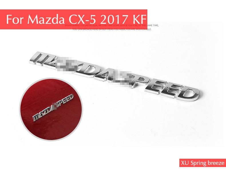 For Mazda Axela Atenza CX-3 CX-5 CX-9 Car Body Sticker Strip Cover Garnish logo Car Standard Emblem Badge Car Styling