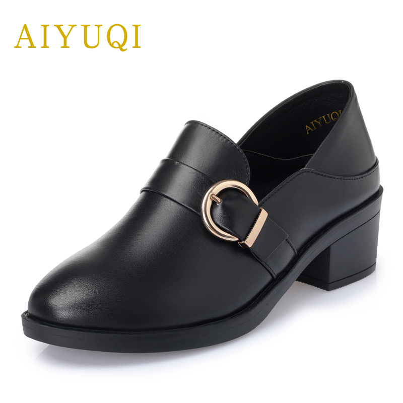 AIYUQI Plus size 41#42#43# women's wedding shoes 2018 spring new genuine leather women shoes with personality deep shoes women aiyuqi 2018 spring new genuine leather women shoes shallow mouth casual shoes plus size 41 42 43 mother shoes female page 5