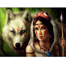 Arts and Crafts Diy painting Diamond cross stitch picture Full round \ square mosaic embroidered diamond Wolf and Girl arts and crafts of diy diamond paint cross stitch round 5d full square diamond mosaic embroidered mosaic high rise building