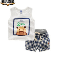 2017 New Children S Suit Baby Boy Clothes Print Animal Infant Sets For Newborn Summer Boy