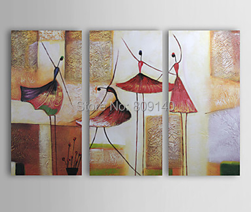 abstract ballet dancing dancers oil painting canva modern artwork handmade home office hotel wall art decor artwork for the office