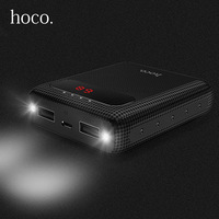 HOCO Energienbank 10000 mah 18650 Dual USB Led-anzeige Licht Polymer Externe Batterie Tragbares Ladegerät Power Für iPhone Xiaomi