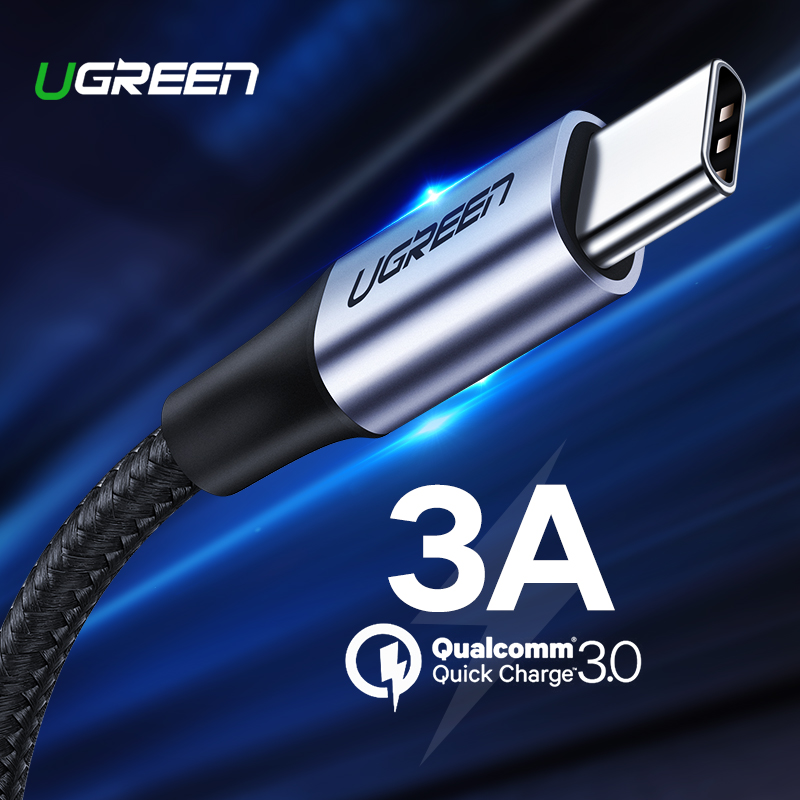 Ugreen USB Type C Cable USB C Fast Charging Data Cable for Samsung Galaxy S9 S8 Plus Mobil