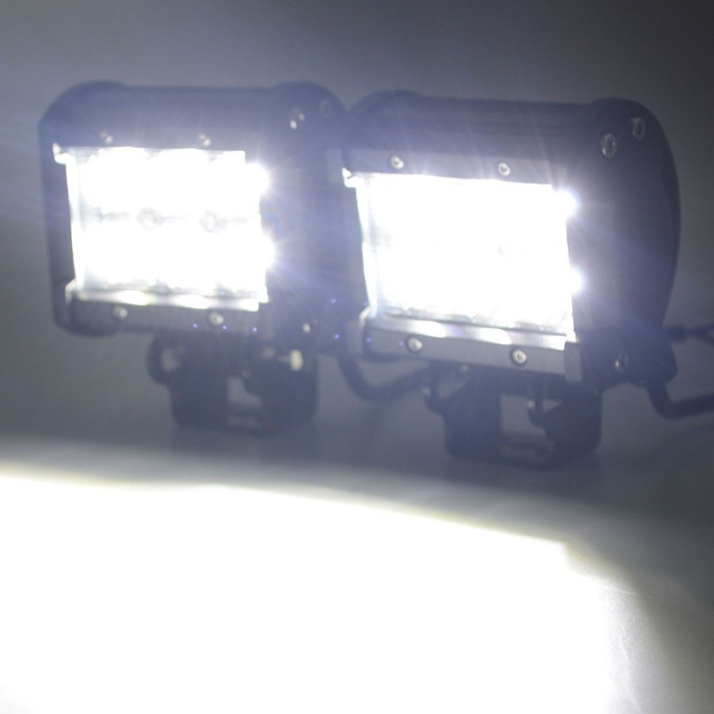 1 db 4 hüvelykes, 18w-os spot fénynyalábos munkavilágító sáv a - Autó világítás - Fénykép 6