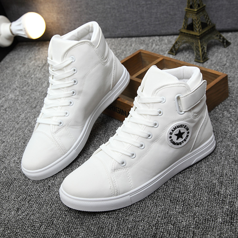 New fashion spring summer 2017 fashion heels shoes with flat breathable man platform casual shoes