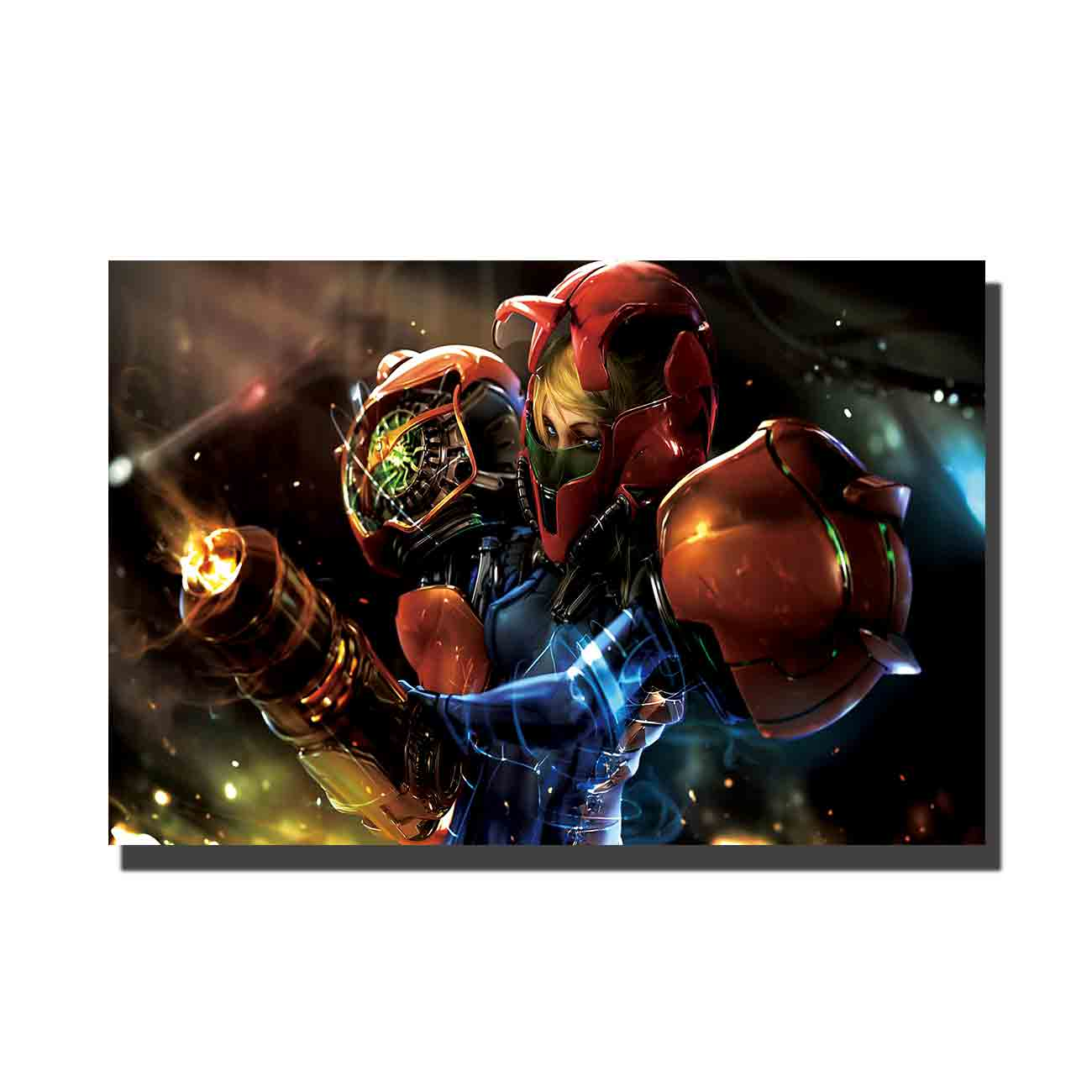 Metroid Game Fabric Cloth Art Poster custom Home Wall decor 8x12 27x40 24x36canvas living roomdecoration image