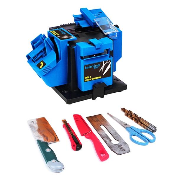 Multifunction Electric Sharpener Drill Sharpening Machine Knife Scissor Sharpener Power Household Grinding Tools EU Plug