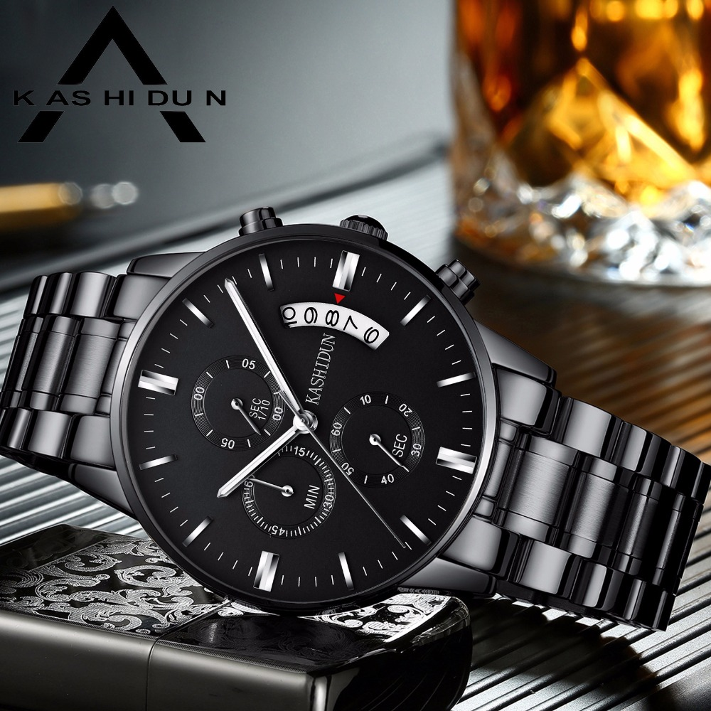 ec67294ffbc Relógios de Quartzo kashidun homens relógio masculino relógios Diâmetro  Dial   43.69mm