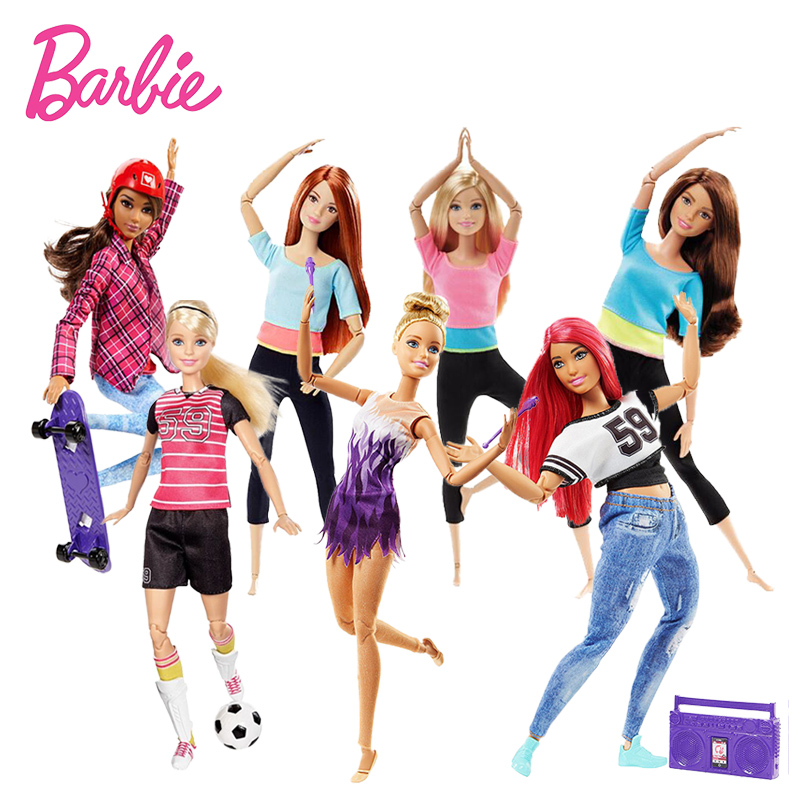 Originale Barbie Doll the Ultimate Usa E Getta Barbie Doll Toy Ginnasta Dancer Fatto al Movimento Skateboarder Calciatore Giocattoli di Modello