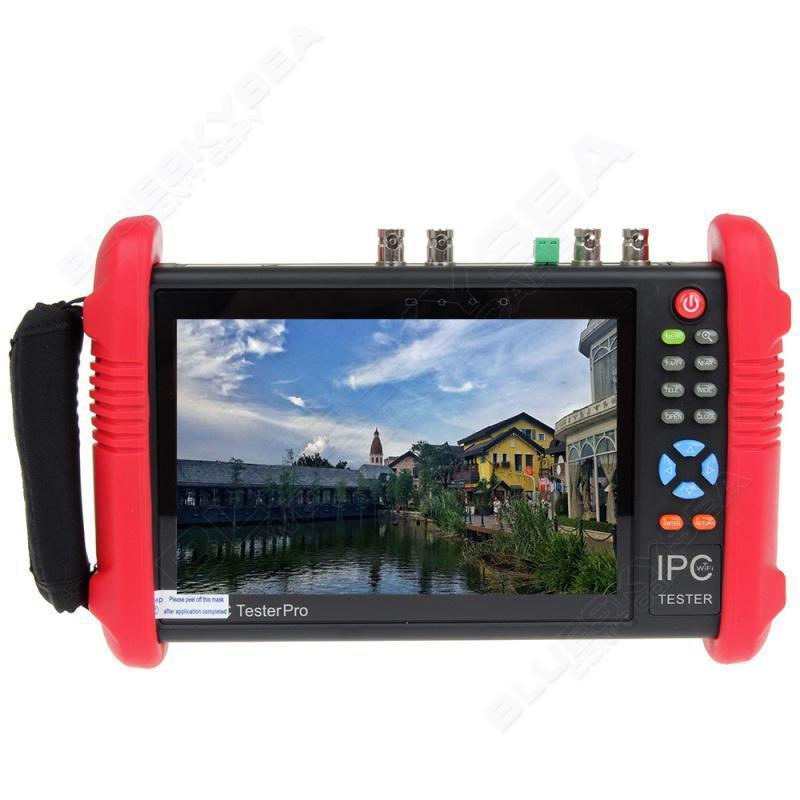 """bilder für Freies verschiffen! IPC9800ADHS 7 """"Touchscreen HD 1080 P TVI CVI AHD SDI CVBS Ip-kamera Tester 12 V"""