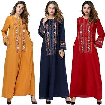 828dc2c48d Primavera Abayas para las mujeres Kaftan Qatar Emiratos Árabes Unidos el  Islam Bangladesh Hijab musulmán vestido Jilbab vestido Abaya Dubai turco  ropa ...