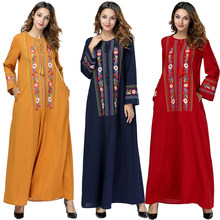 Spring Abayas For Women Kaftan Qatar Uae Islam Bangladesh Muslim Hijab Dress Jilbab Robe Abaya Dubai Turkish Islamic Clothing(China)