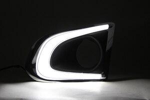 Image 4 - Car Flashing 2PCS DRL For Chevrolet Chevy TRAX 2014 2015 2016 Daytime Running Lights fog lamp cover 12V Daylight