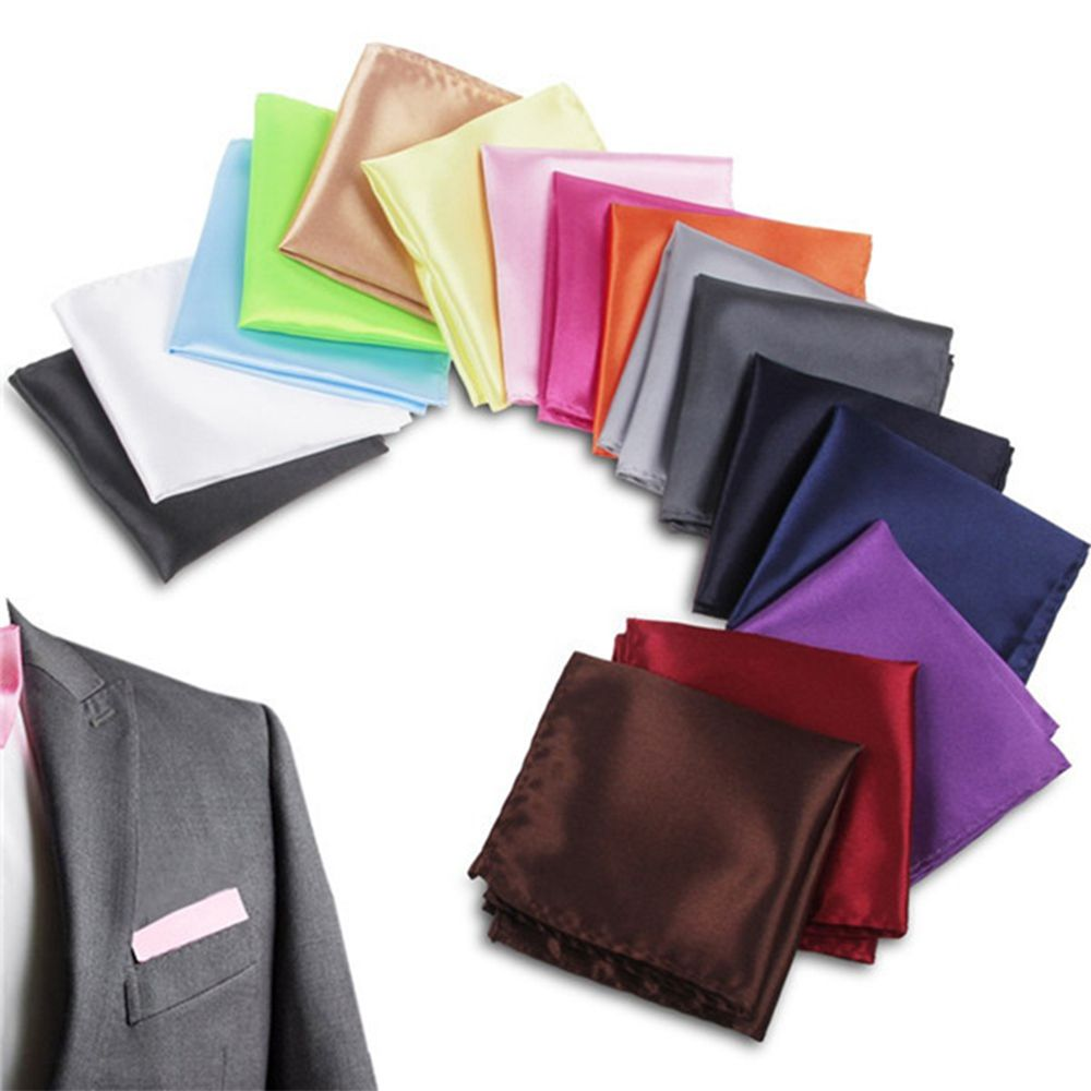 6 Colors Men Pocket Solid Square Handkerchief  For Suit Pocket Wedding Business Pocket Square Chest Towel 20cm * 20cm