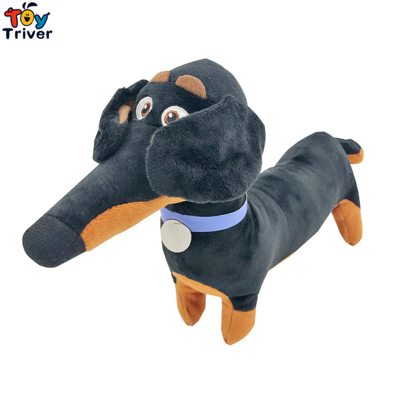 35cm Plush Black Sausage Buddy dog Toy Stuffed Cartoon Dachshund Pet Puppy Baby Kids Birthday Party Gift Home Shop Decor Triver lps 325 black dachshund dog chien teckel puppy sausage