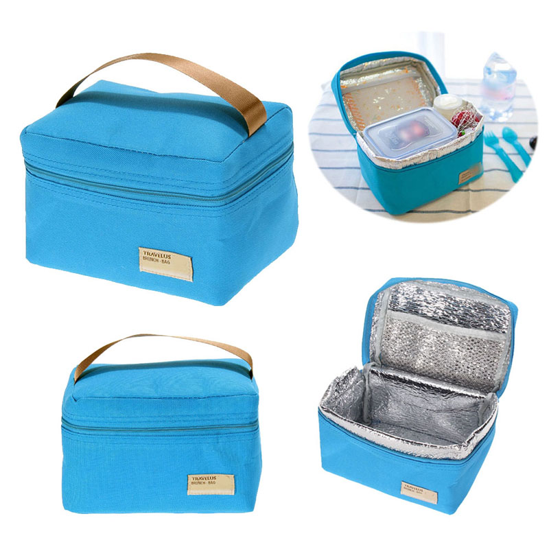 Portable Insulated Thermal Snack font b Lunch b font Box Waterproof Tote Travel Picnic font b