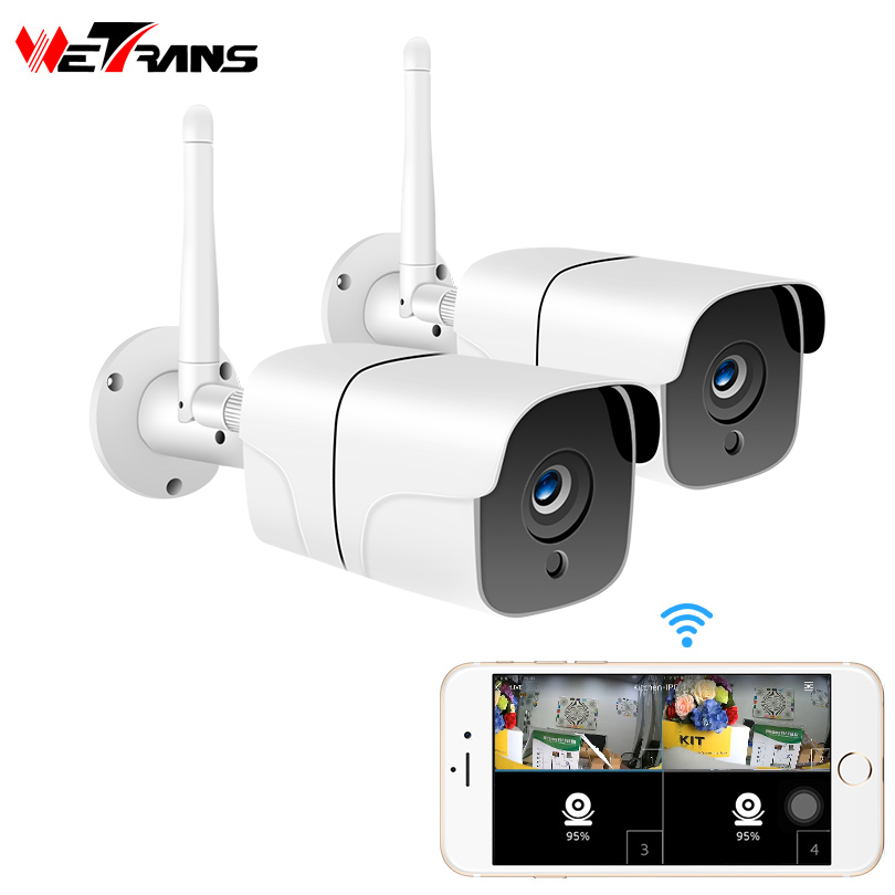 Wetrans Home Security Wireless Camera CCTV System Outdoor 1080P HD 2CH Audio Camara Wifi IP Camera Video Surveillance Kit 2MP