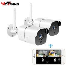Wetrans bezpieczeństwo w domu kamera bezprzewodowa System CCTV na świeżym powietrzu 1080P HD 2CH Audio Camara Wifi IP kamera wideo zestaw do nadzorowania 2MP