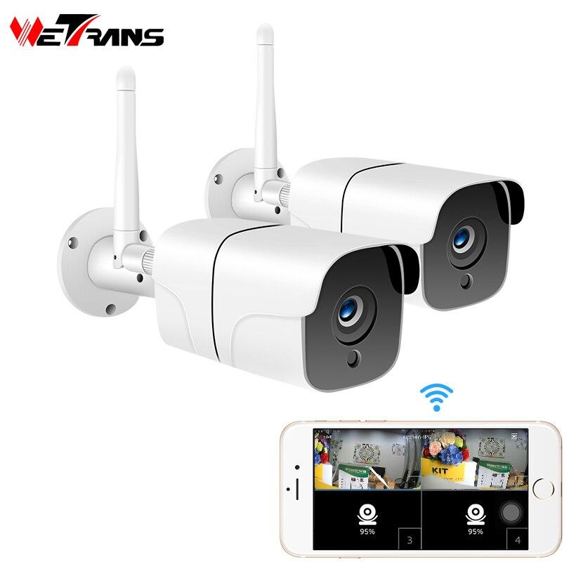 Wetrans caméra sans fil de sécurité à domicile système de vidéosurveillance en plein air 1080P HD 2CH Audio Camara Wifi caméra IP kit de Surveillance vidéo 2MP