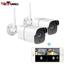 Wetransホームセキュリティワイヤレスカメラcctvシステム屋外 1080 1080p hd 2CHオーディオカマラwifi ipカメラビデオ監視キット 2MP