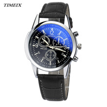 TIMEIX Luxury Fashion Casual Mens Watches Faux Leather Band Men's Analog Watch Life Waterproof Free Shipping,Nov 6