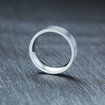 Classic silver color Wedding Ring Flat Top Stainless Steel Promise Ring For Women Men 6mm 8mm 3