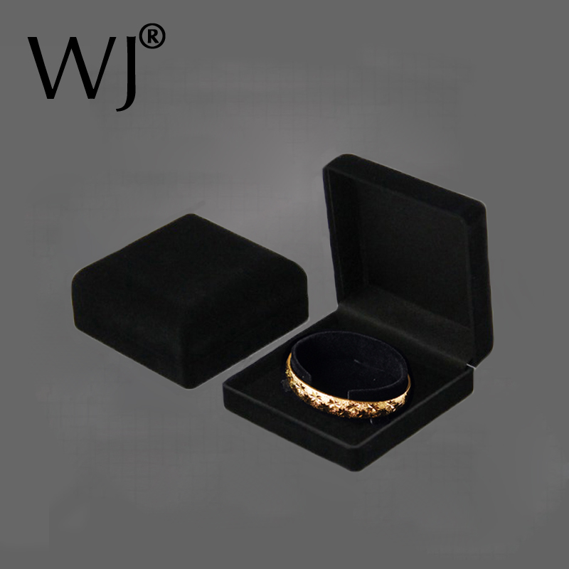 a8a2fe1a0 Premium Bangle Bracelet Box Black Velvet Coated Jewelry Display Boxes C  Collar Jewellery Packaging Gift Holder Organizer Case