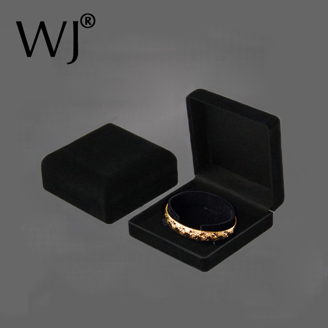 Premium Bangle Bracelet Box Black Velvet Coated Jewelry Display