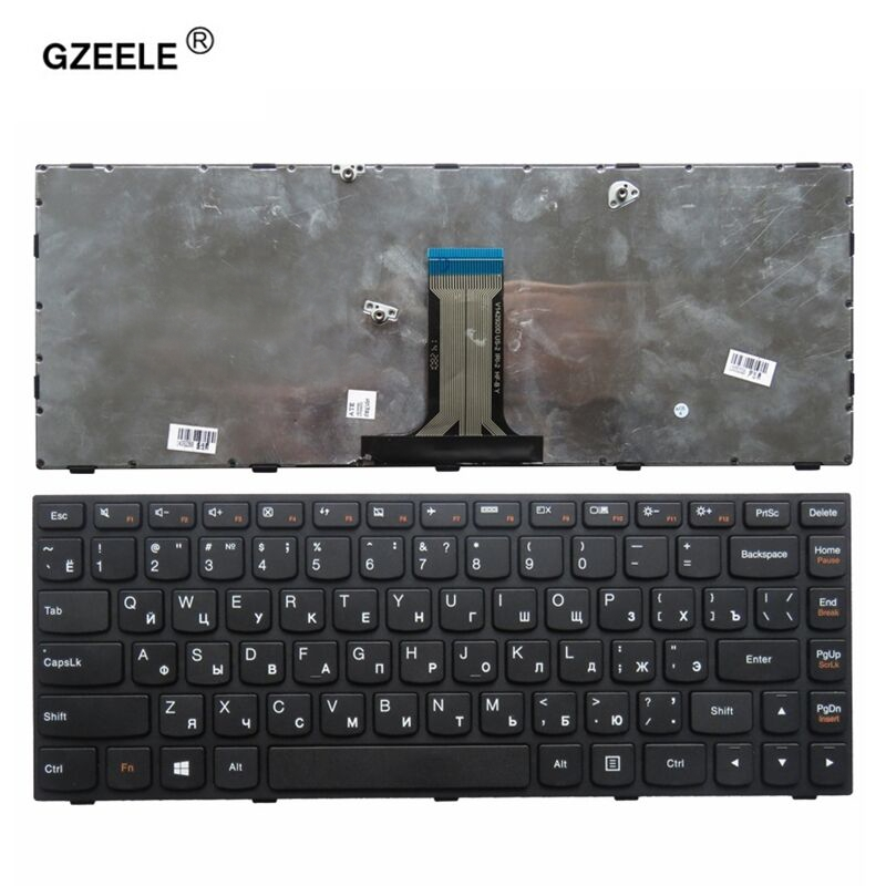 GZEELE RU laptop keyboard for LENOVO Z40 70 Z40 75 b40 30 g40 70 Flex 2 14 Flex 2 14D series RU layout black russian keyboard-in Replacement Keyboards from Computer & Office on