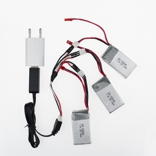EU plug USB charger 1to3 cable 2016 Hot Sale 7.4V 1000mAh 25C WLtoys V912 V915 Upgraded Battery For RC Multicopter Wholesale
