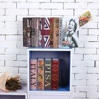 Size M Hidden Box Lock Key Simulation Book Style Durable Steel Home Office Money Jewelry Safe Hidden Storage Box