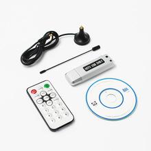 1pc USB 2 0 DVB-T cyfrowy Odbiornik TV HDTV Tuner Dongle anteny pilot zdalnego sterowania na podczerwień tanie tanio YIKIXI Other Tv stick W zestawie 100 gb SKU007322 Standardowy Wysokiej rozdzielczości