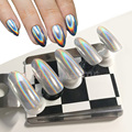 0.5 g/caja Rainbow Duochrome Pigmento Pigmento Holográfico Holográfico Holograma Arco Iris de Mica En Polvo Polvo de Unicornio