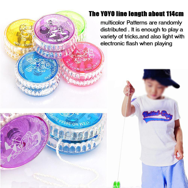Hot LED Light Up Magic YoYo Ball Juggling Fancy Flashing Toys Gift for Kids Boys