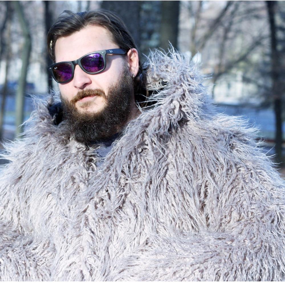 Aliexpress Com Buy Male Winter Shaggy Faux Fur Jacket