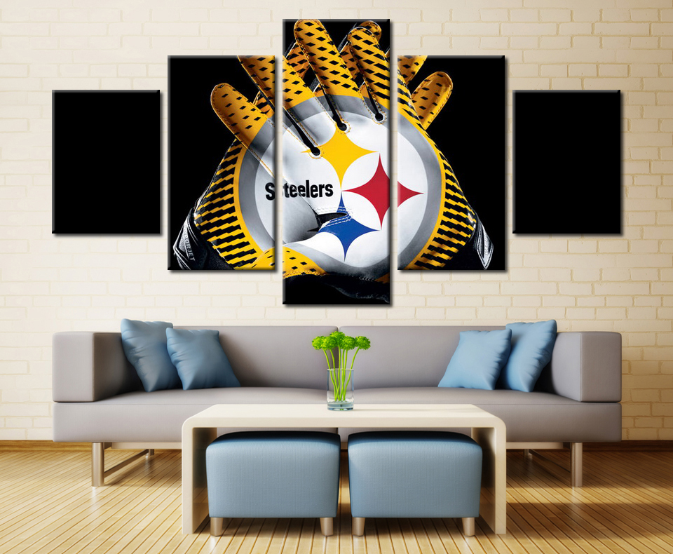5 panel pittsburgh steelers gloves wall art picture home