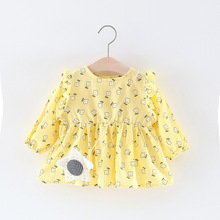 Children'S Clothes Kids Baby Girls T-Shirt With Flower Print Shirt Infant Fashion Bags Spring Clothing Child Princess Garment