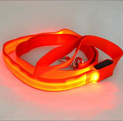 Flashing LED Light Up Dog Leash