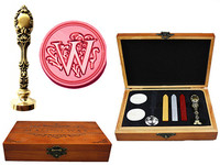 Vintage Luxury Letter W Alphabet Initial Engraved Wedding Invitation Wax Seal Sealing Stamp Brass Peacock Metal