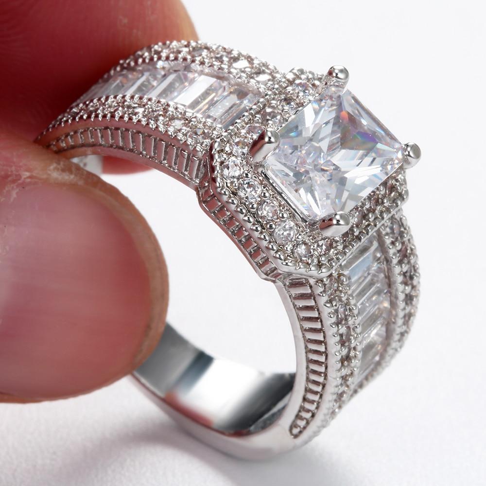Women's Luxury Large Engagement Ring Jewelry Rings Women Jewelry