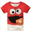 Camiseta de los muchachos de Hipopótamo corto-manga de la Camiseta de los Nuevos niños del verano ropa de bebé niño hembra-varón de los niños t-shirt camisetas