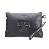 Brand 2019 Genuine Leather Women Bag Party Clutch Evening Bags Fashion Ladies Shoulder Crossbody Messenger skull Bags for women